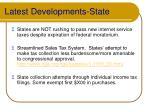 latest developments state
