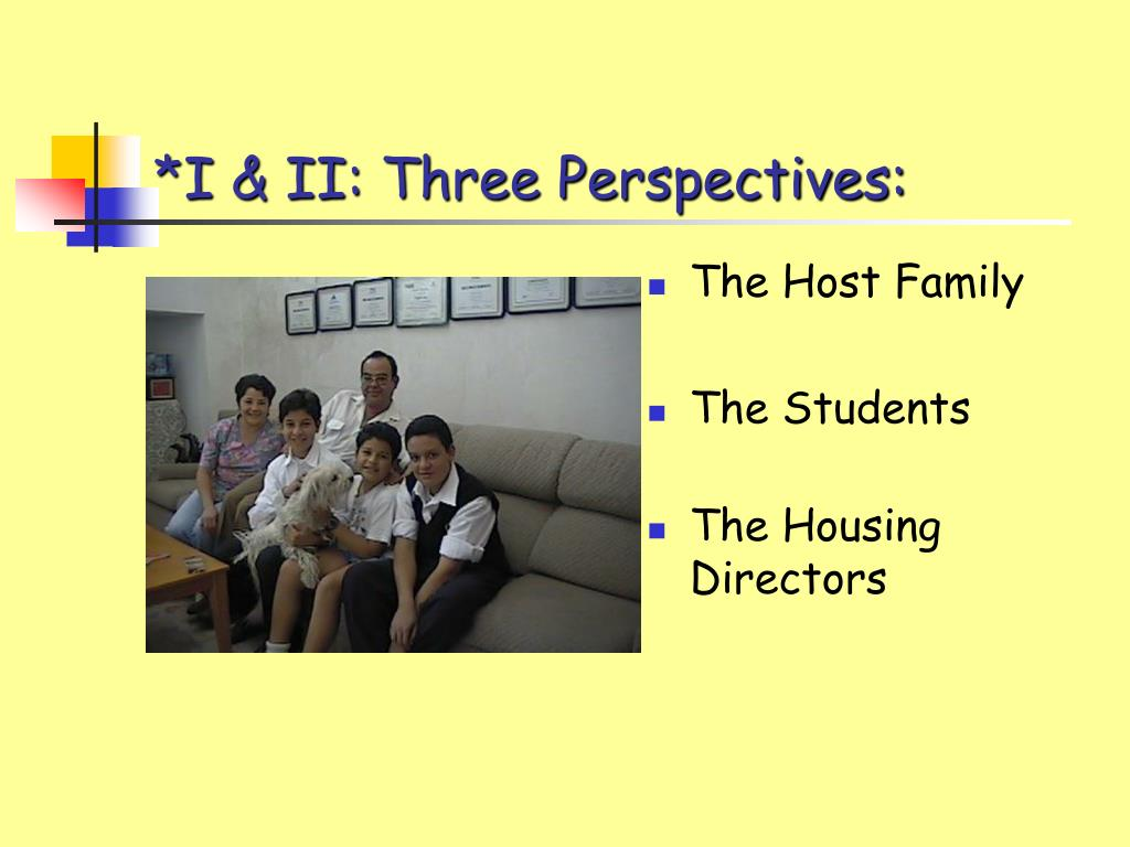 *I & II: Three Perspectives: