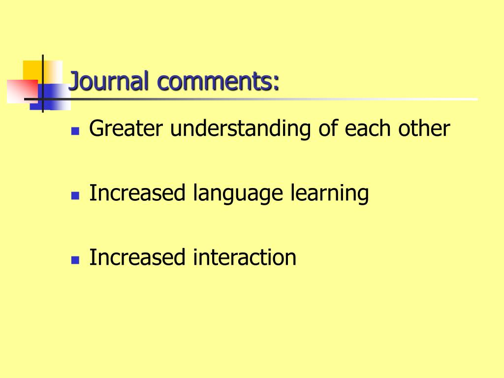 Journal comments: