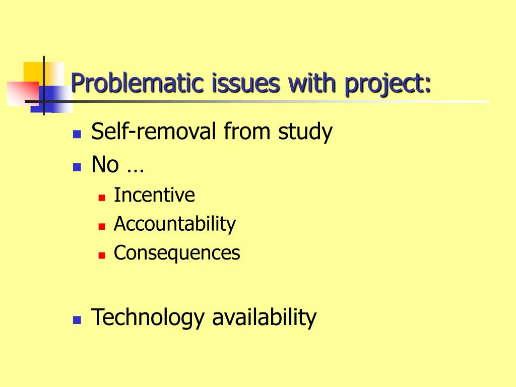 Problematic issues with project: