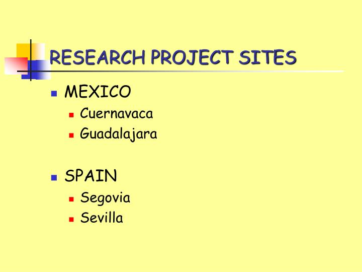 Research project sites