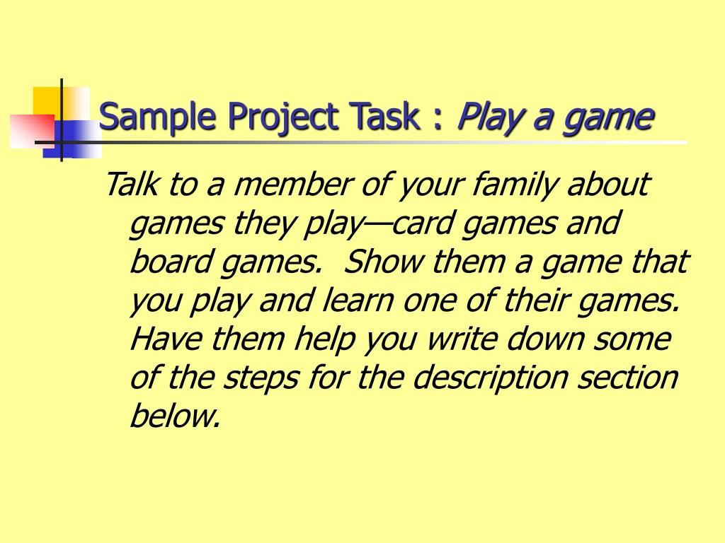 Sample Project Task :