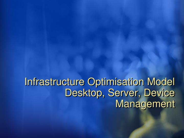 Infrastructure Optimisation Model