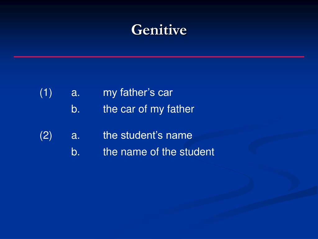 Genitive