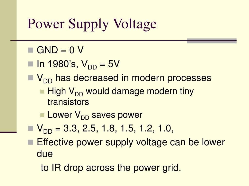 Power Supply Voltage