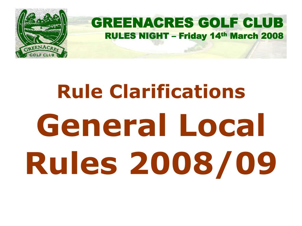 Rule Clarifications