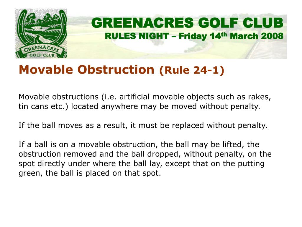Movable Obstruction