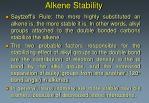 alkene stability