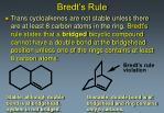 bredt s rule