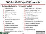 doe g 413 3 16 project top elements
