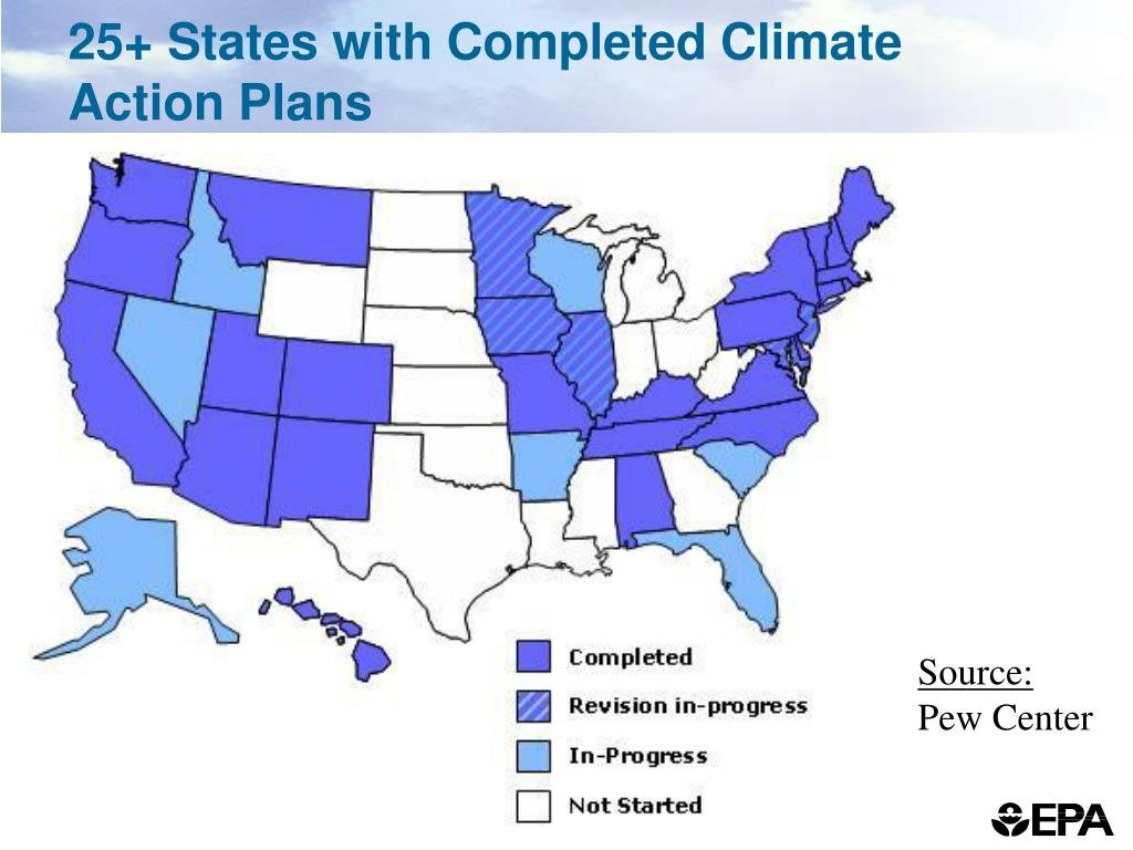 25+ States with Completed Climate Action Plans