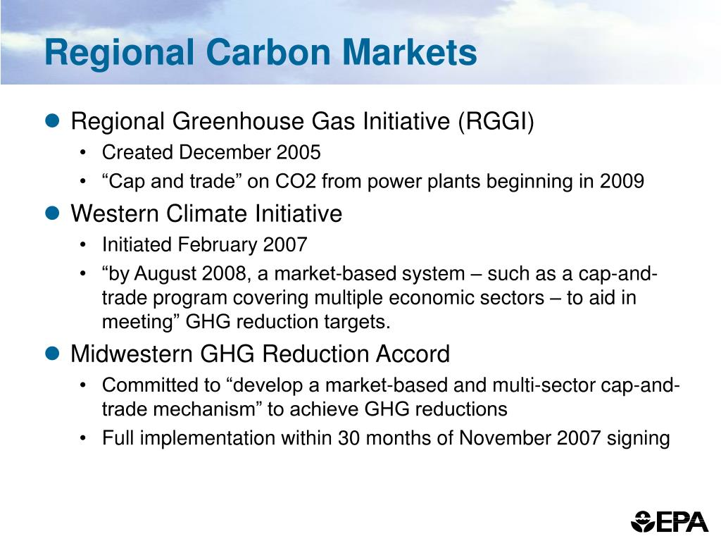 Regional Carbon Markets
