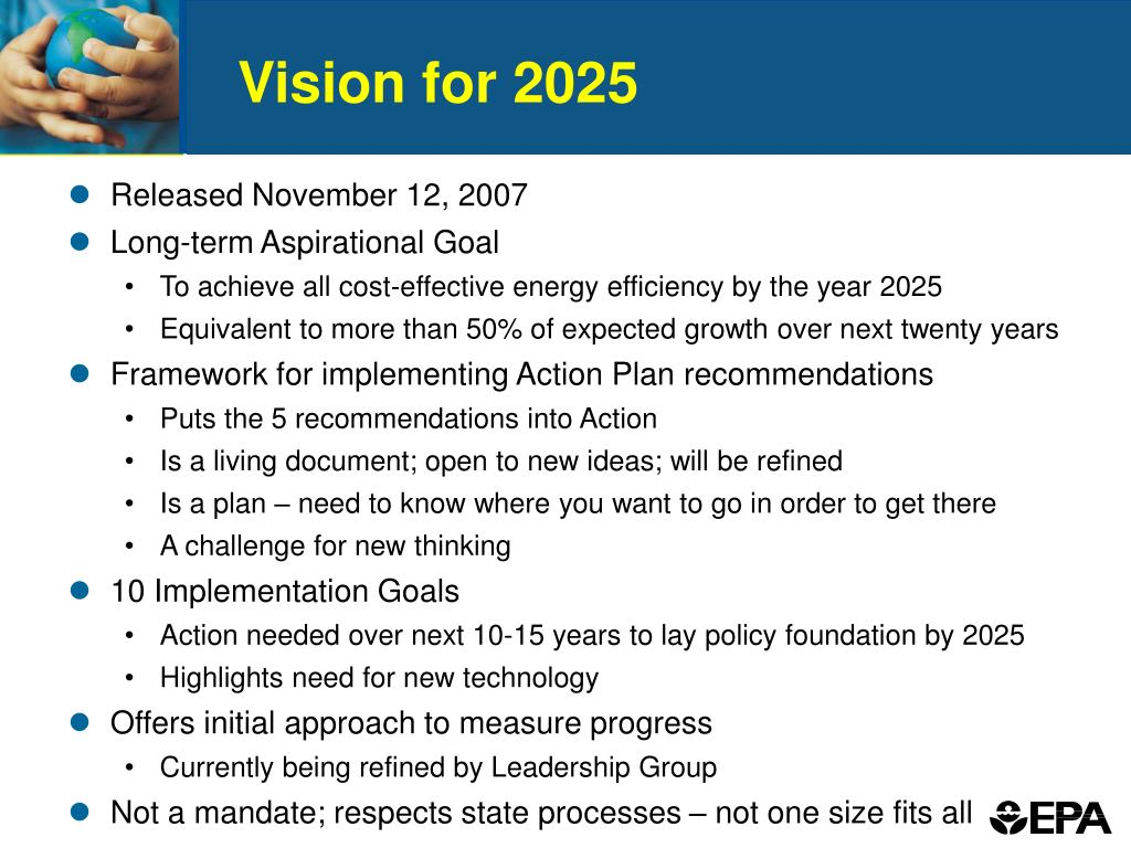 Vision for 2025