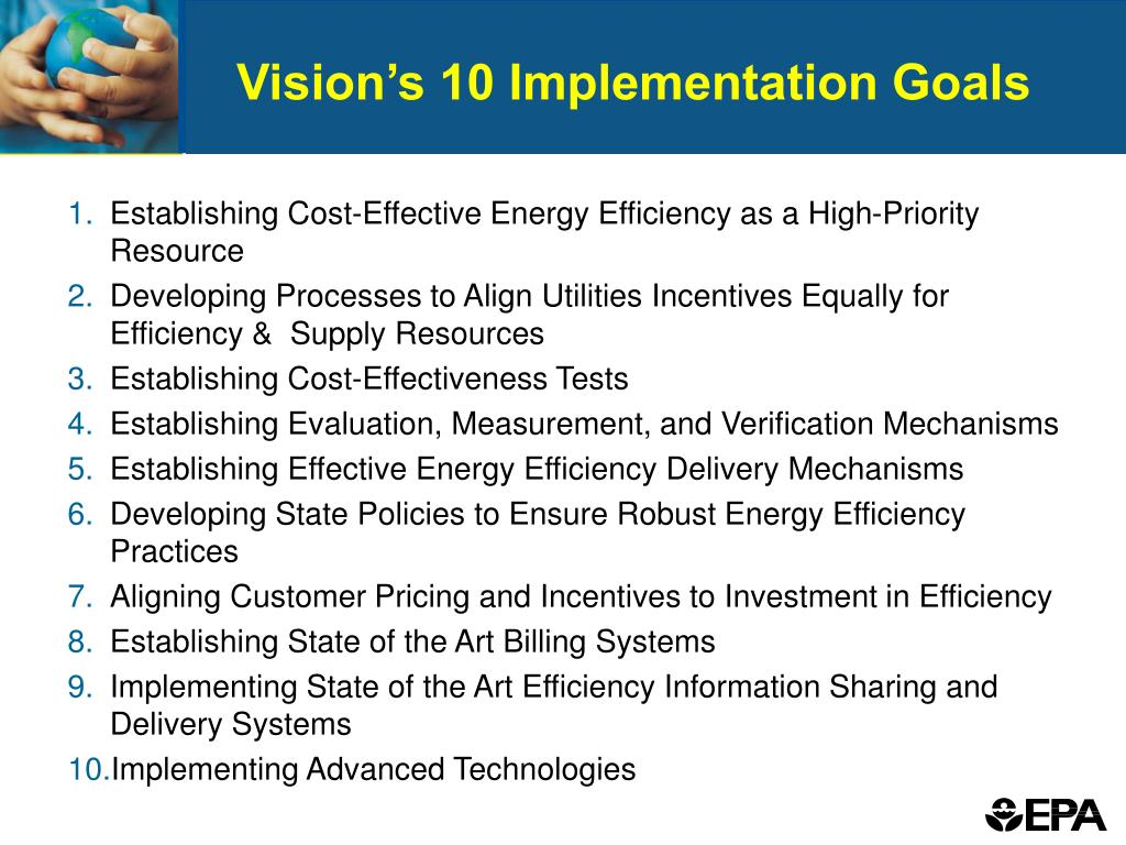 Vision's 10 Implementation Goals
