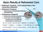 basic results of refinement cont