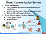 group communication service