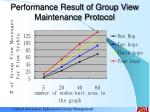 performance result of group view maintenance protocol