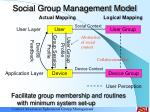 social group management model