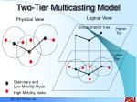 two tier multicasting model