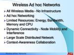 wireless ad hoc networks