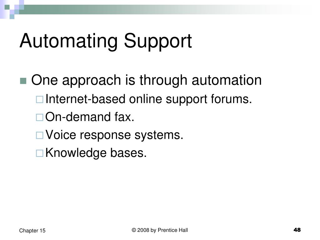 Automating Support