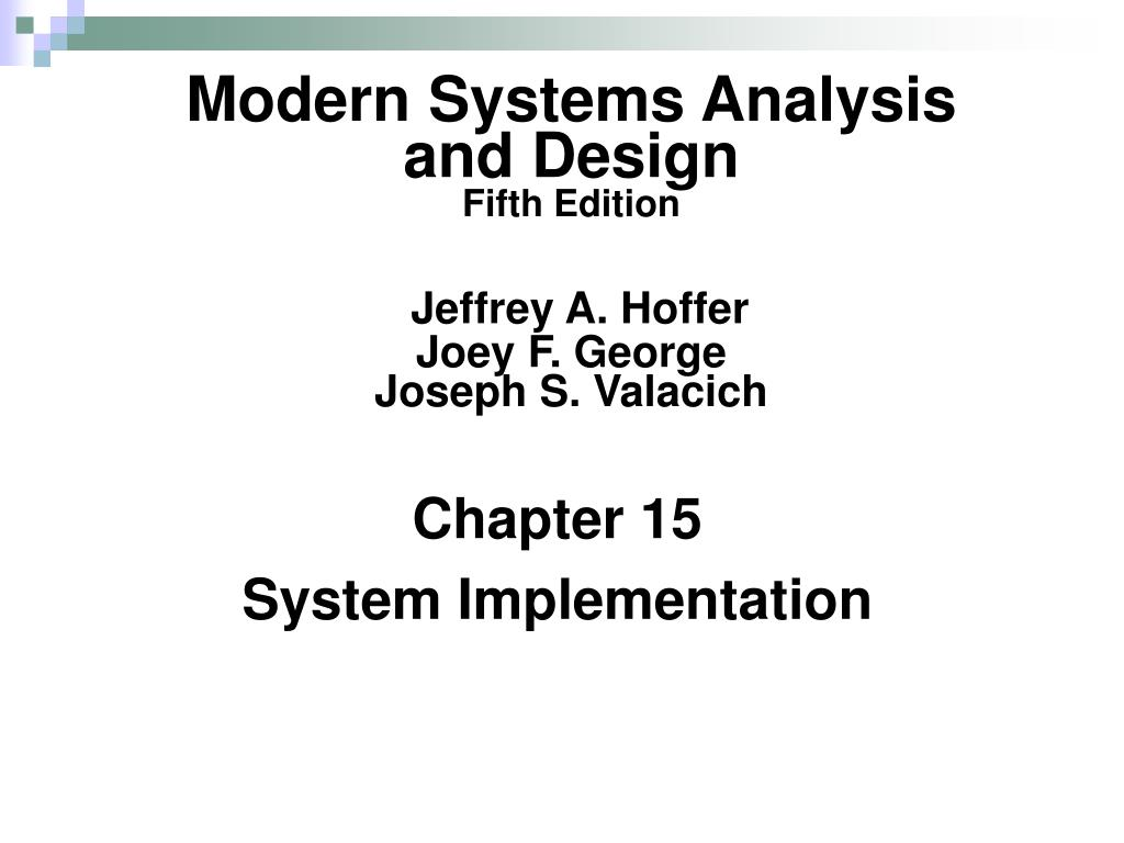 Modern Systems Analysis