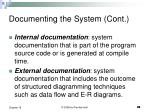 documenting the system cont