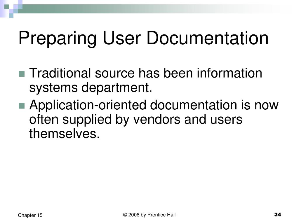 Preparing User Documentation