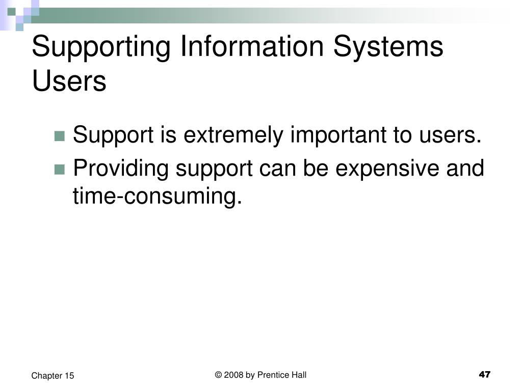 Supporting Information Systems Users