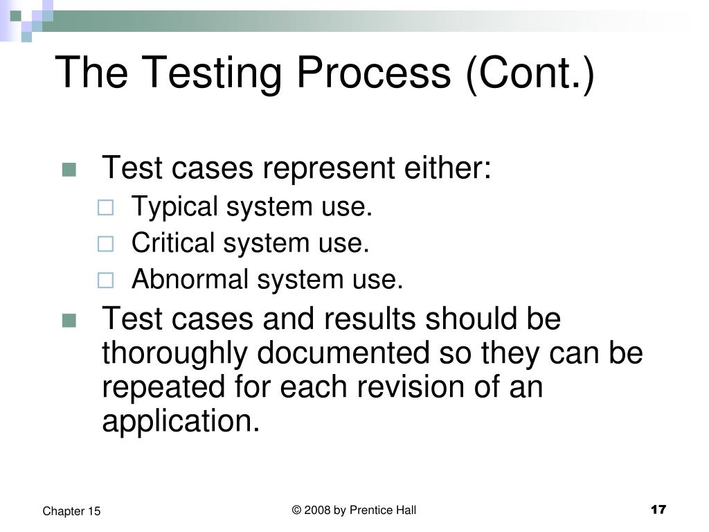 The Testing Process (Cont.)