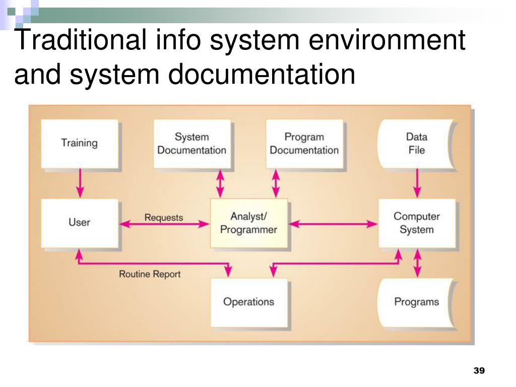Traditional info system environment and system documentation
