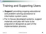 training and supporting users