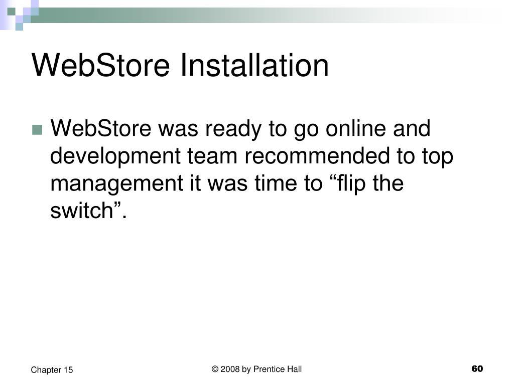 WebStore Installation