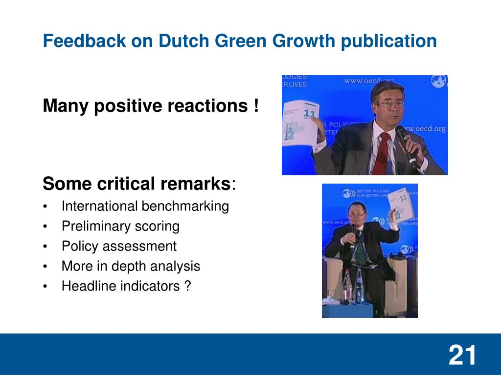 Feedback on Dutch Green Growth publication