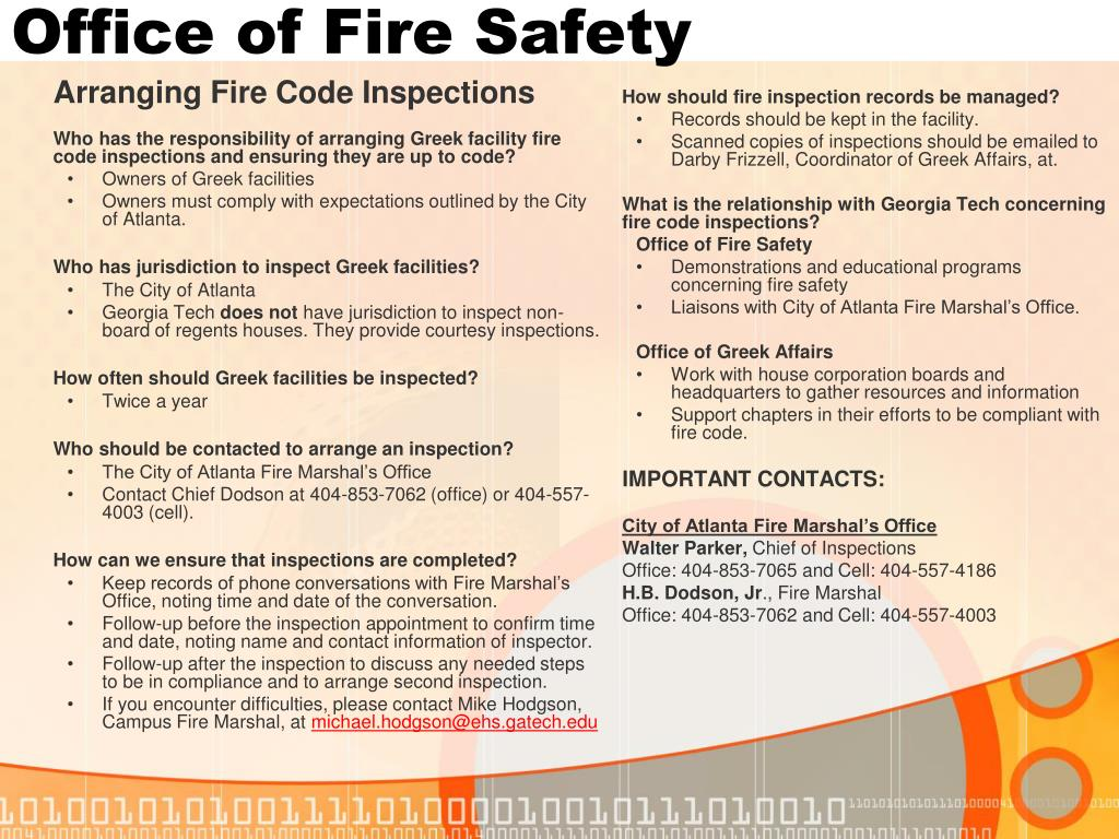 Office of Fire Safety