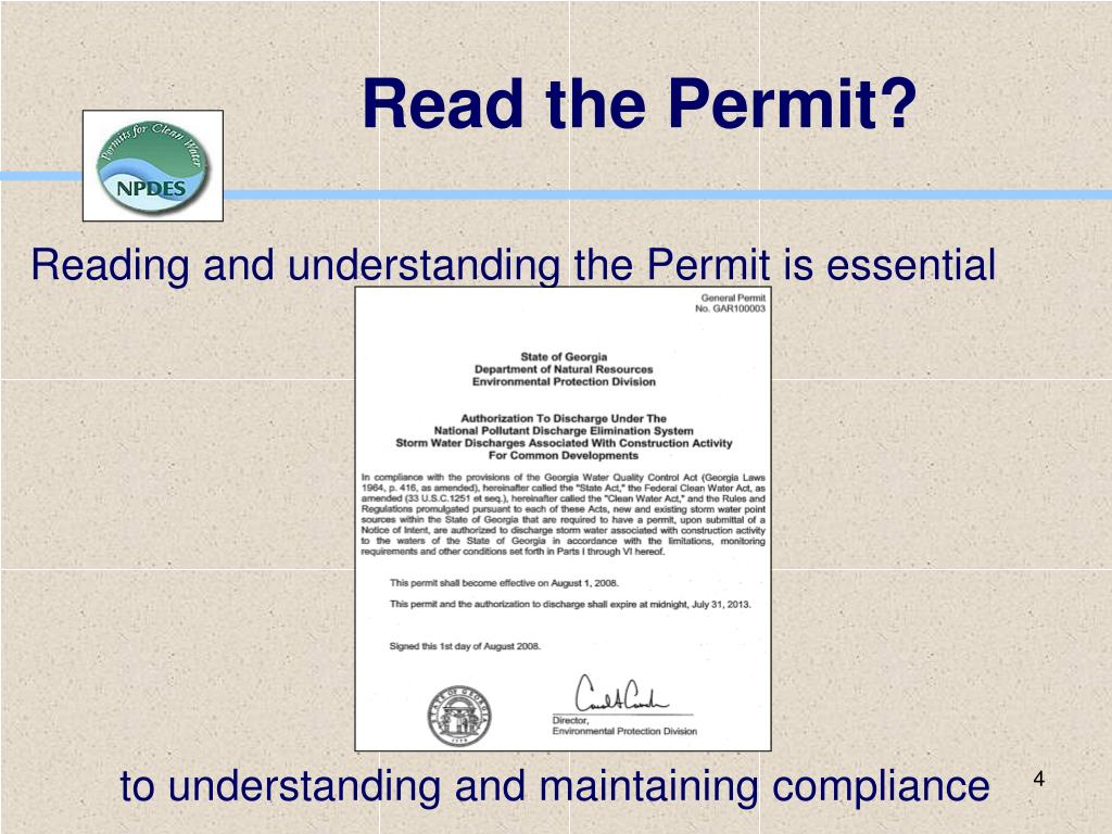 Read the Permit?
