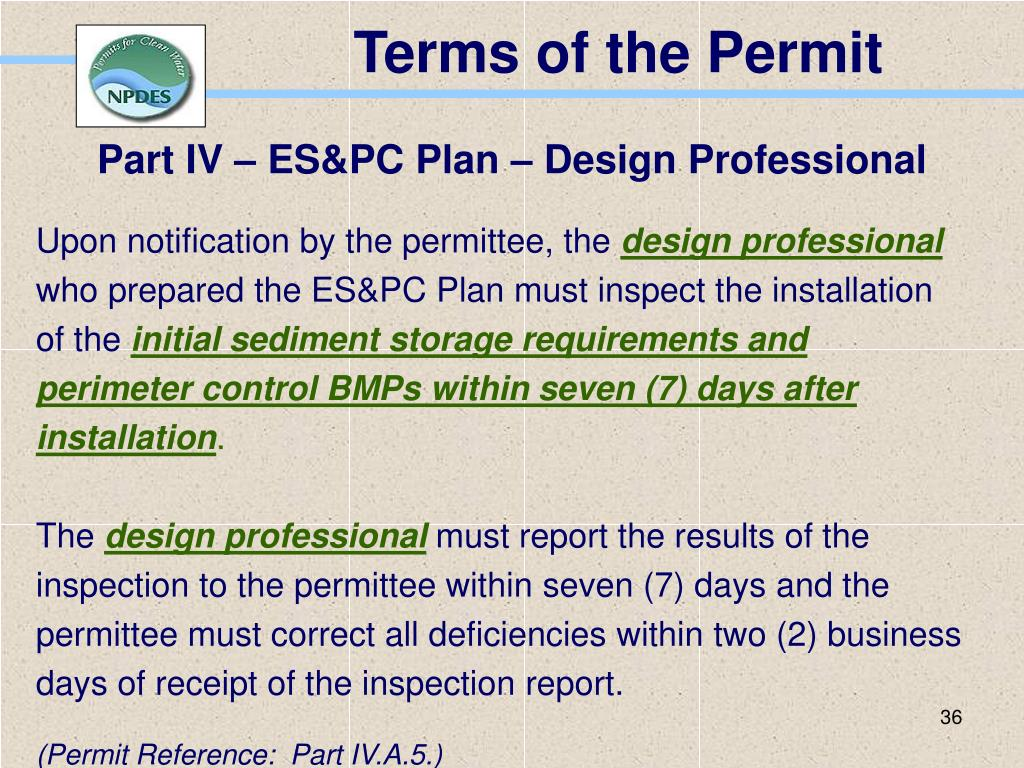 Terms of the Permit