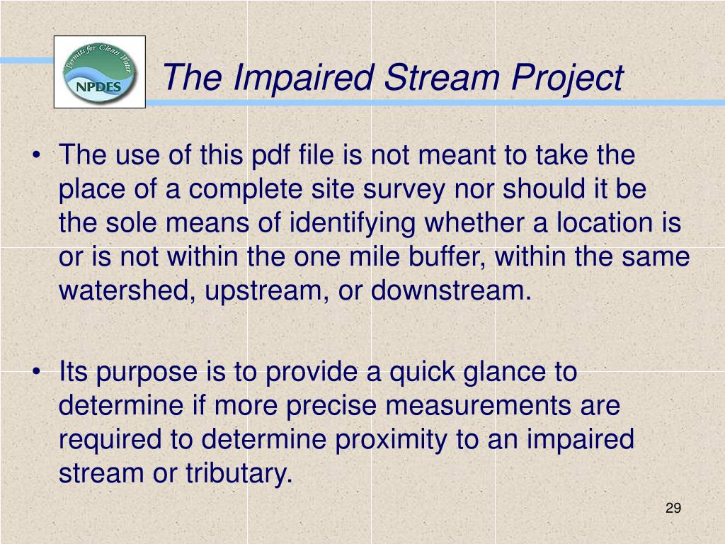 The Impaired Stream Project