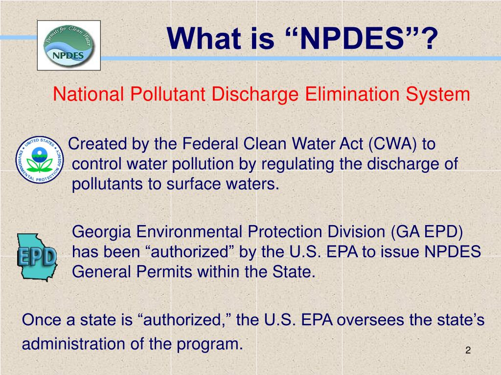 "What is ""NPDES""?"