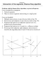 intersection intersection of line segments shamos hoey algorithm14