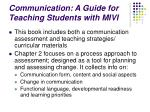 communication a guide for teaching students with mivi