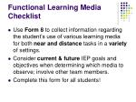 functional learning media checklist