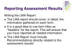 reporting assessment results74