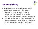 service delivery110