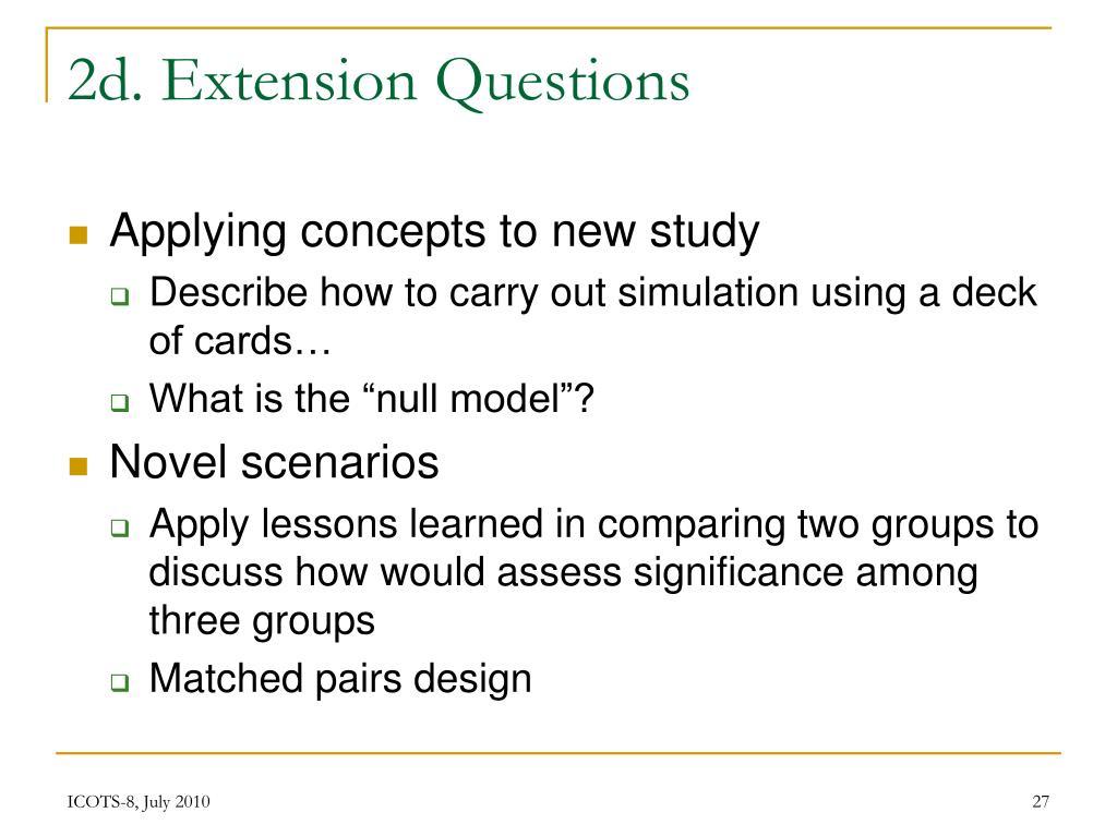 2d. Extension Questions