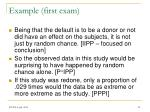 example first exam