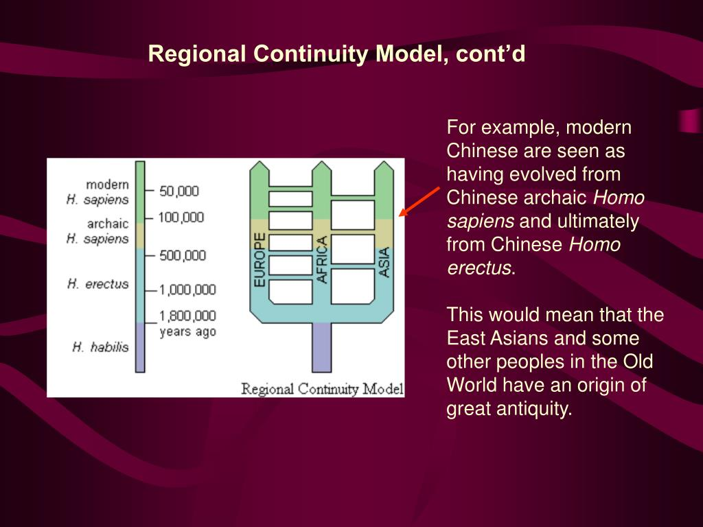 Regional Continuity Model, cont'd