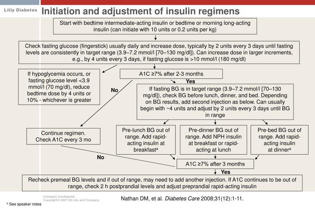 Initiation and adjustment of insulin regimens
