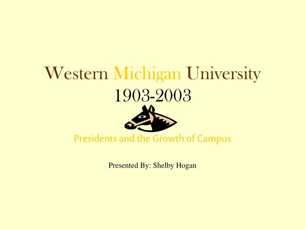 western michigan university 1903 2003