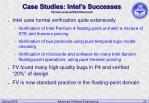 case studies intel s successes http www cse ogi edu s3s johnharrison pdf